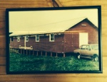 The original shed purchased for $20 At the army barracks opposite out farm